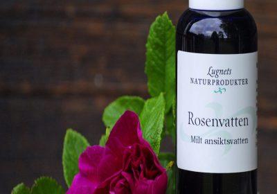 rosenvatten m ros för rak